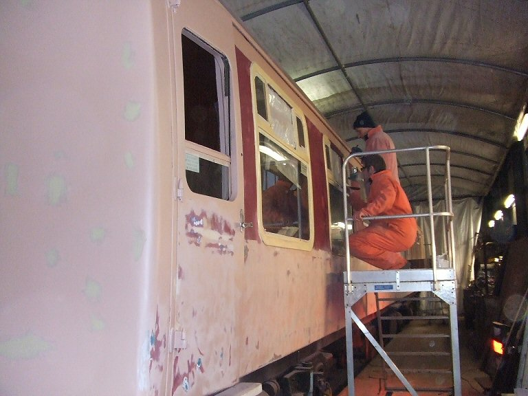 2013 - RMB No.1804 'Aries' receiving final preparatio and undercoat on 22 January. This work is licenced under a Creative Commons Licence. © Ray Waldron.