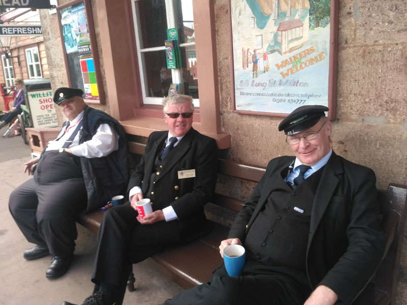 2018.04.23. Willtion station staff take a well-earned rest after the morning rush. © Chris Hooper