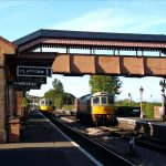 2018.10.03. Class 33 Nos. D6566 & D6575 occupying both platforms at Williton during a shunting manoeuvre to make room for a guard's van in the South Yard. © Richard Salt.