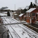The 'white stuff' at Williton Station on 18 March 2018 – ©(cc) Mike Collins