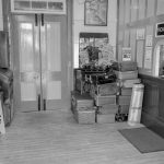 2018.10.09. The Booking Office at Williton Station -'Everything was in black and white when I was a kid'. © Frank Earl