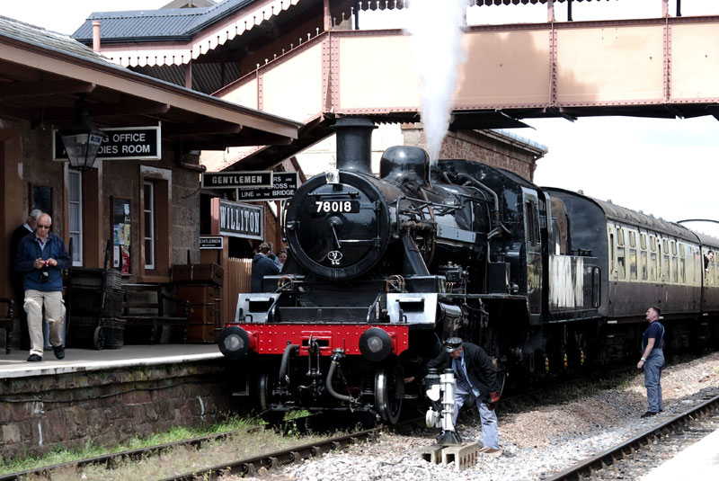 2017.04.27. Standard Class 2 No.78018 visits from the Central Railway during the Spring Steam Gala. © Beverley-Zehetmeier