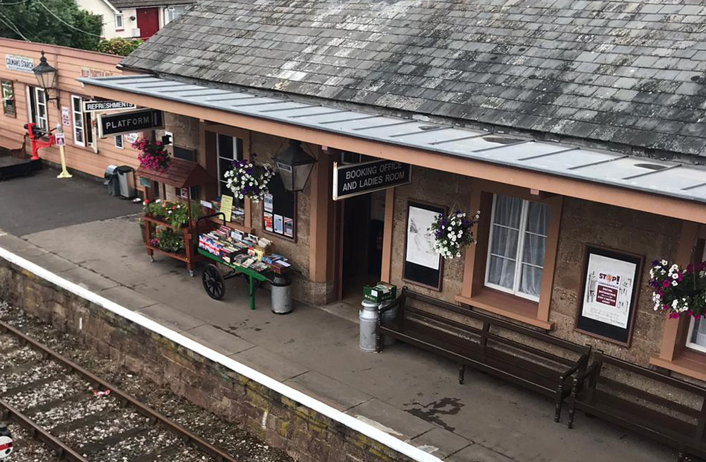 2021.07.10 Looking smart with its displays and artifacts, Platform 1 is ready for customers. © John Parsons